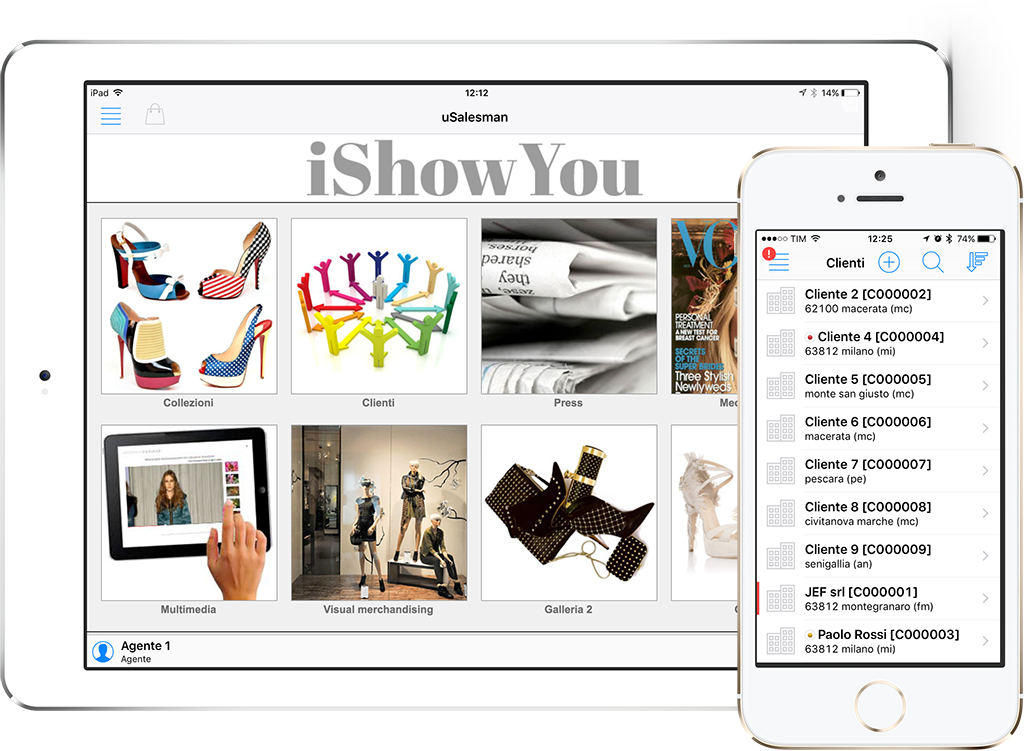 ipad ishowyou gestione commesse